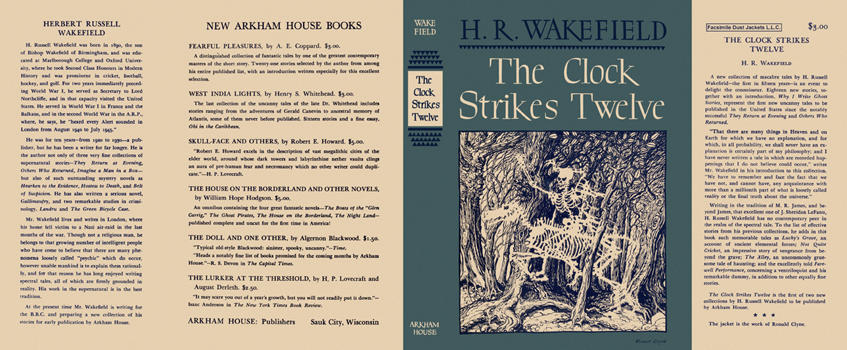 Clock Strikes Twelve, The. H. R. Wakefield.