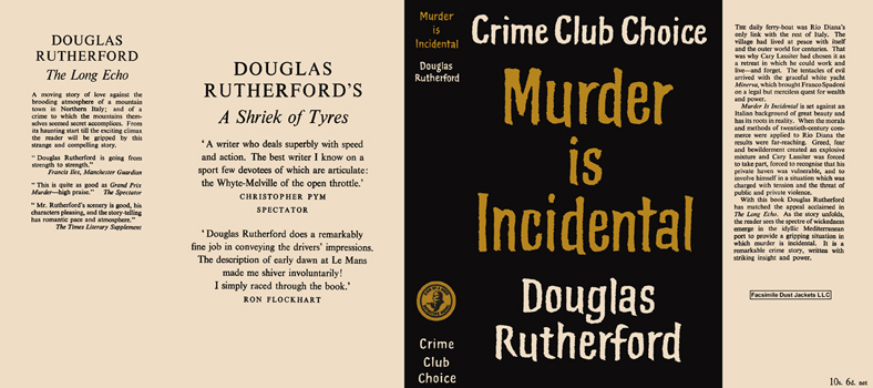 Murder Is Incidental. Douglas Rutherford.