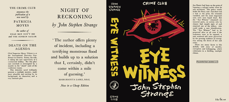 Eye Witness. John Stephen Strange
