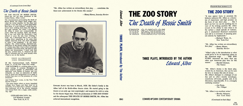 Zoo Story; The Death of Bessie Smith; and The Sandbox, The. Edward Albee