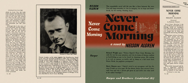Never Come Morning. Nelson Algren.