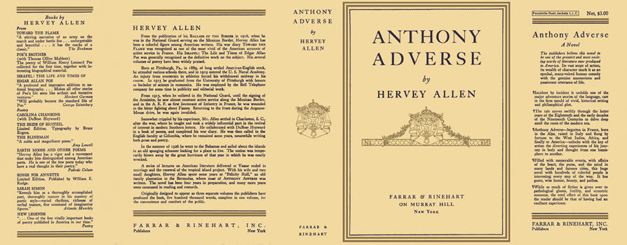 Anthony Adverse. Hervey Allen
