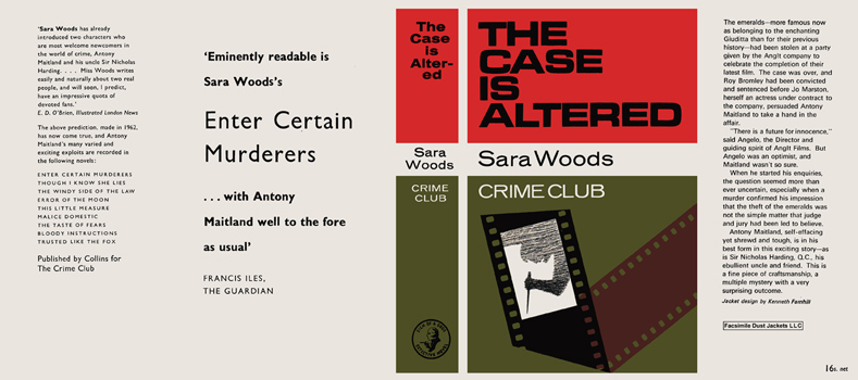 Case Is Altered, The. Sara Woods.
