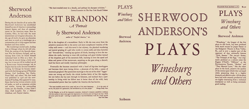 Plays, Winesburg and Others. Sherwood Anderson