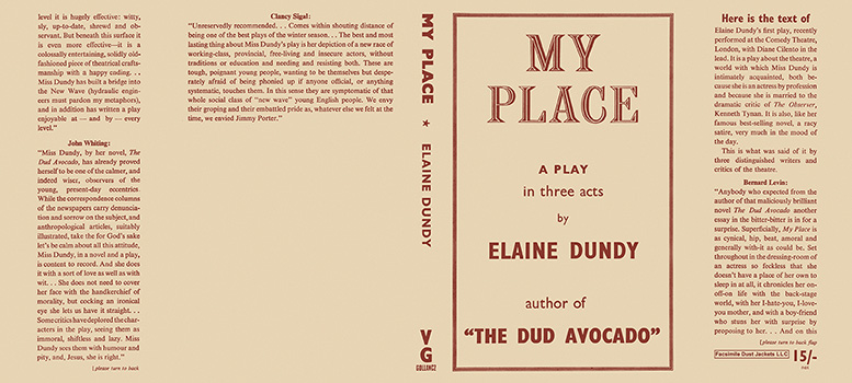 My Place, A Play in Three Acts. Elaine Dundy