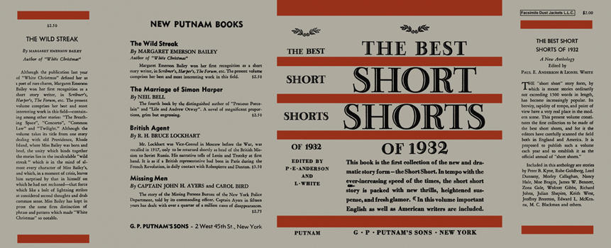 Best Short Shorts of 1932, The. Paul Ernest Anderson, Lionel White, Anthology
