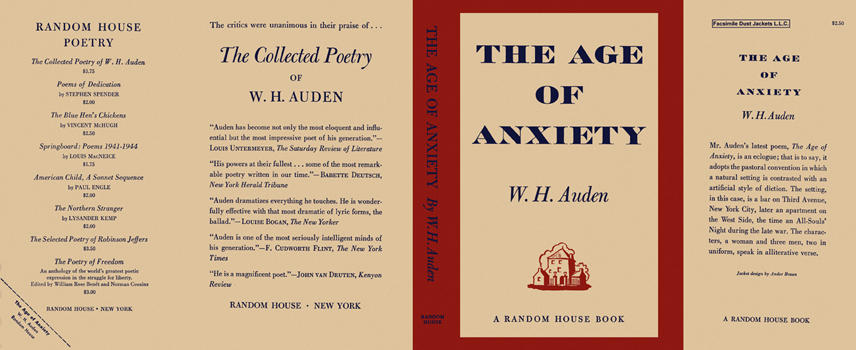 Age of Anxiety, The. W. H. Auden