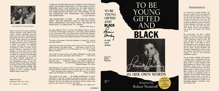 To Be Young Gifted and Black. Lorraine Hansberry, Robert Nemiroff.