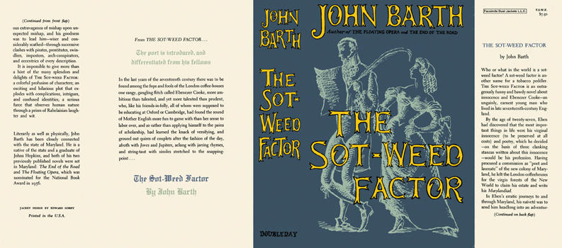Sot-Weed Factor, The. John Barth