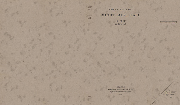 Night Must Fall, A Play in Three Acts. Emlyn Williams