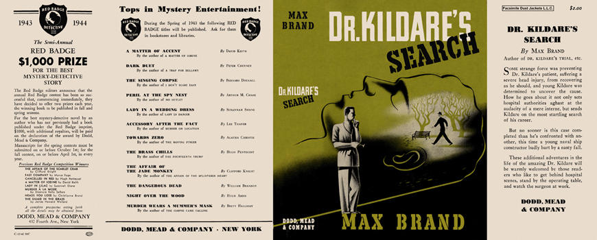 Dr. Kildare's Search. Max Brand