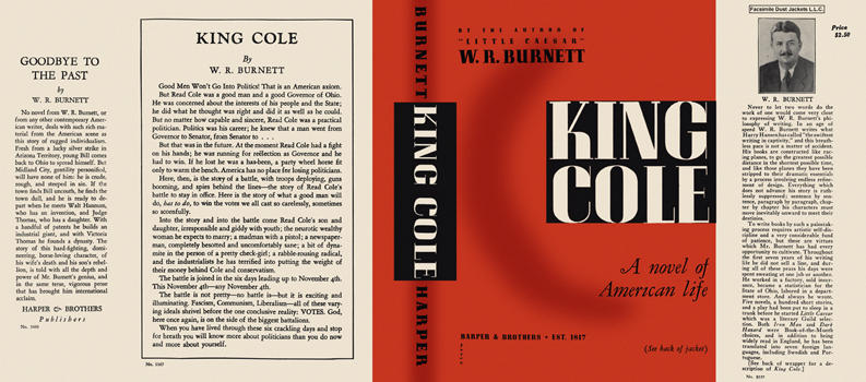 King Cole. W. R. Burnett.