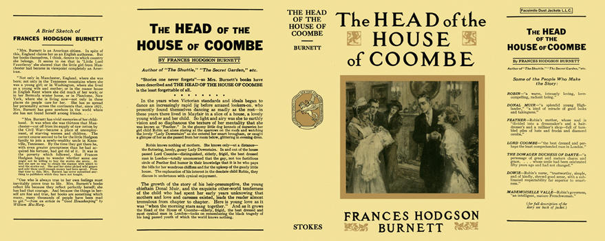 Head of the House of Coombe, The. Frances Hodgson Burnett.