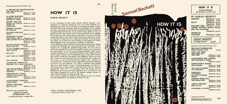 How It Is. Samuel Beckett