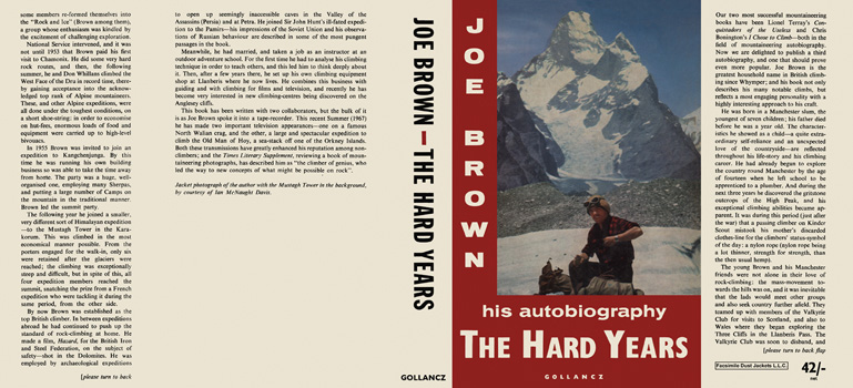 Hard Years, The. Joe Brown