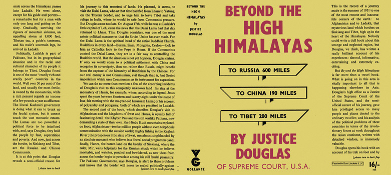 Beyond the High Himalayas. William O. Douglas.