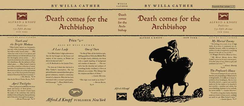 Death Comes for the Archbishop. Willa Cather