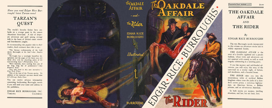 Oakdale Affair and The Rider, The. Edgar Rice Burroughs.
