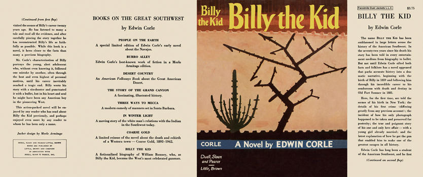 Billy the Kid. Edwin Corle.