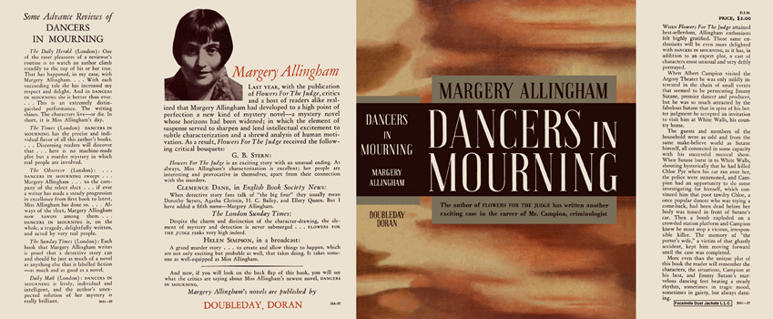 Dancers in Mourning. Margery Allingham