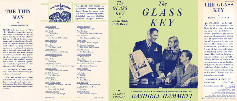 Glass Key, The. Dashiell Hammett
