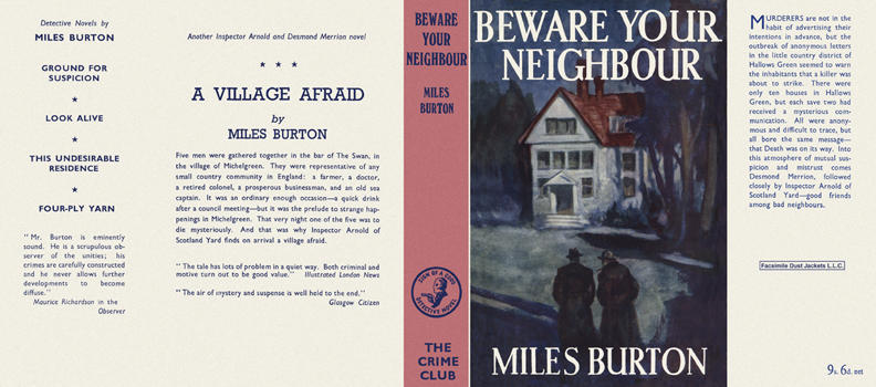 Beware Your Neighbour. Miles Burton.