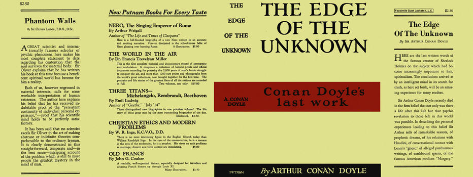 Edge of the Unknown, The. Sir Arthur Conan Doyle
