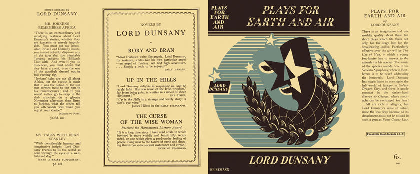 Plays for Earth and Air. Lord Dunsany