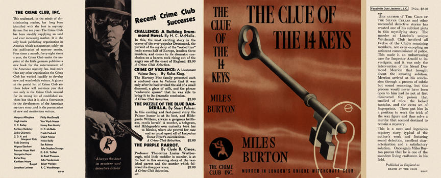 Clue of the 14 Keys, The. Miles Burton.