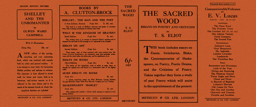 Sacred Wood, The. T. S. Eliot