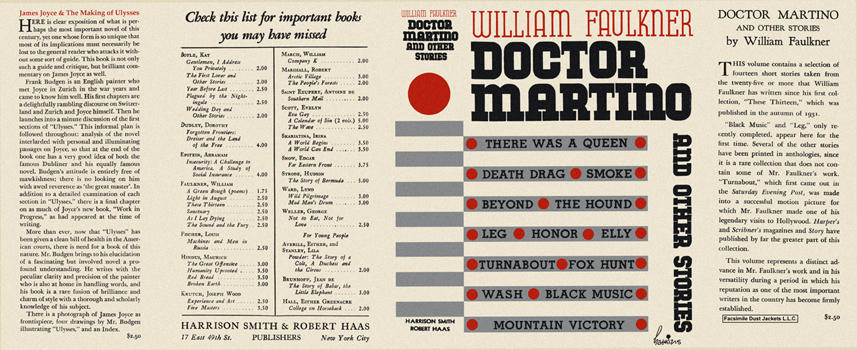 Doctor Martino and Other Stories. William Faulkner