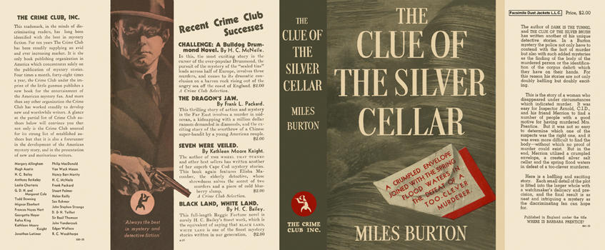 Clue of the Silver Cellar, The. Miles Burton.