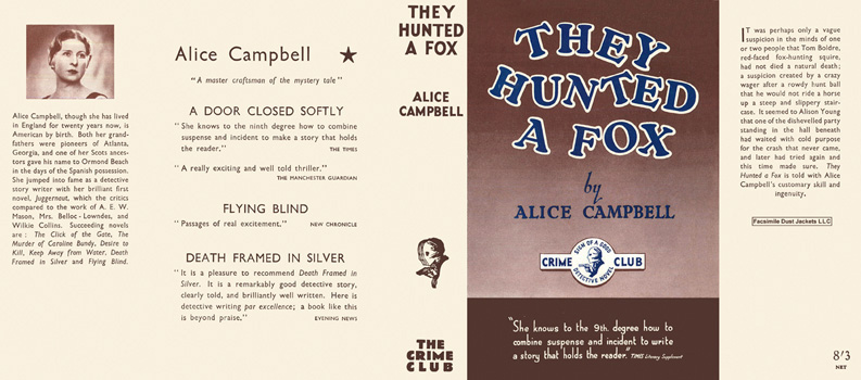 They Hunted a Fox. Alice Campbell