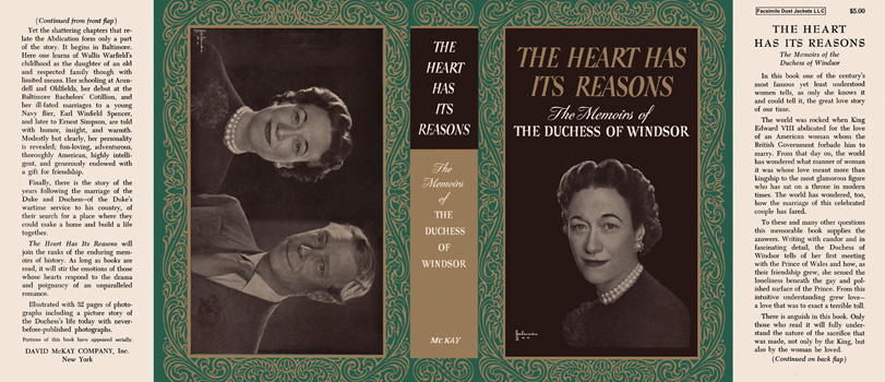 Heart Has Its Reasons, The. Duchess of Windsor