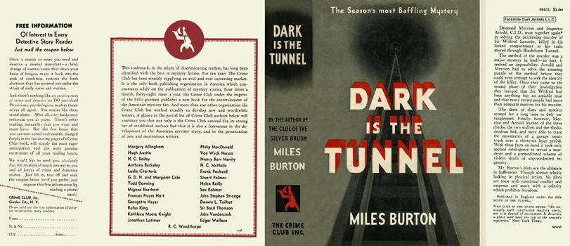 Dark Is the Tunnel. Miles Burton.