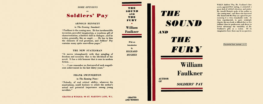 Sound and the Fury, The. William Faulkner.
