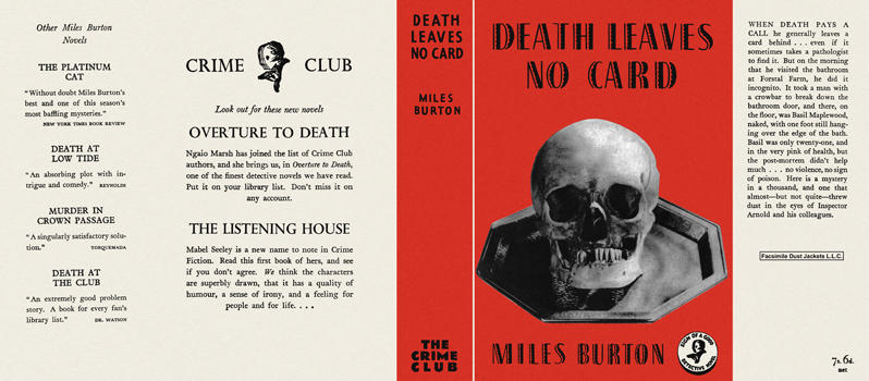 Death Leaves No Card. Miles Burton.