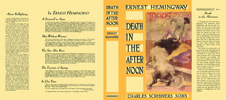Death in the Afternoon. Ernest Hemingway