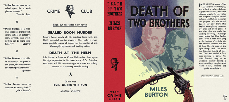 Death of Two Brothers. Miles Burton.