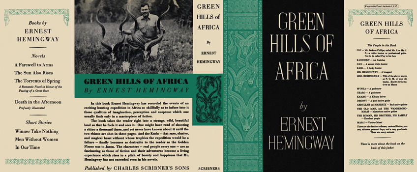 Green Hills of Africa, The. Ernest Hemingway