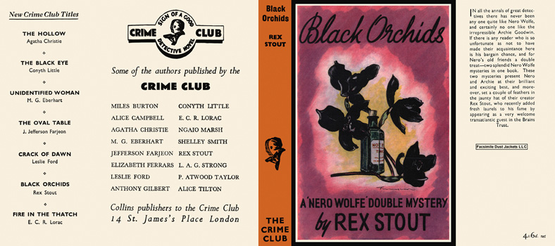 Black Orchids. Rex Stout.