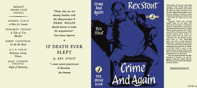 Crime and Again. Rex Stout.