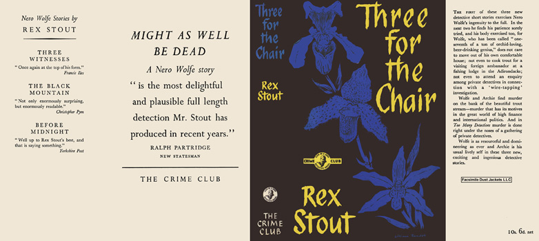 Three for the Chair. Rex Stout