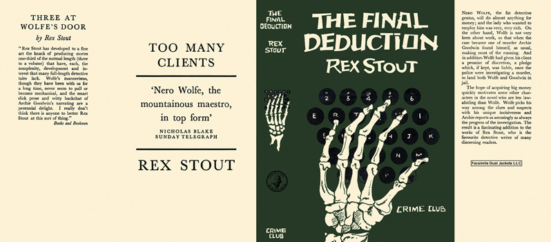 Final Deduction, The. Rex Stout