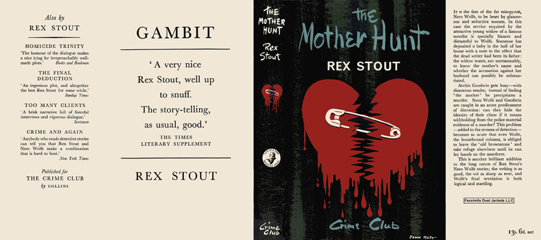 Mother Hunt, The. Rex Stout.