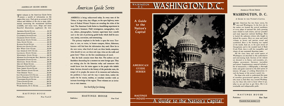 Washington, D. C., A Guide to the Nation's Capital. American Guide Series, WPA