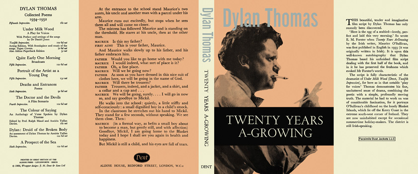 Twenty Years A-Growing. Dylan Thomas
