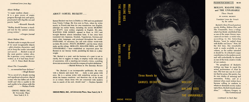 Three Novels. Samuel Beckett