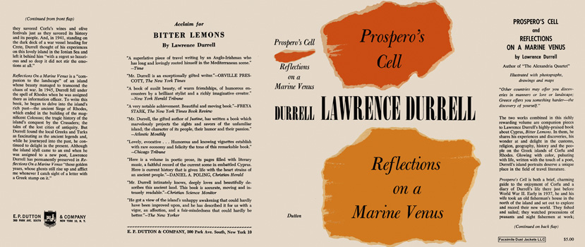 Prospero's Cell and Reflections on a Marine Venus. Lawrence Durrell.