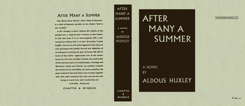 Aldous Huxley after many a summer